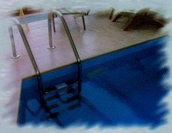 Bazénový nerezový žebřík
