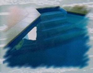 Rohové bazénové schodiště